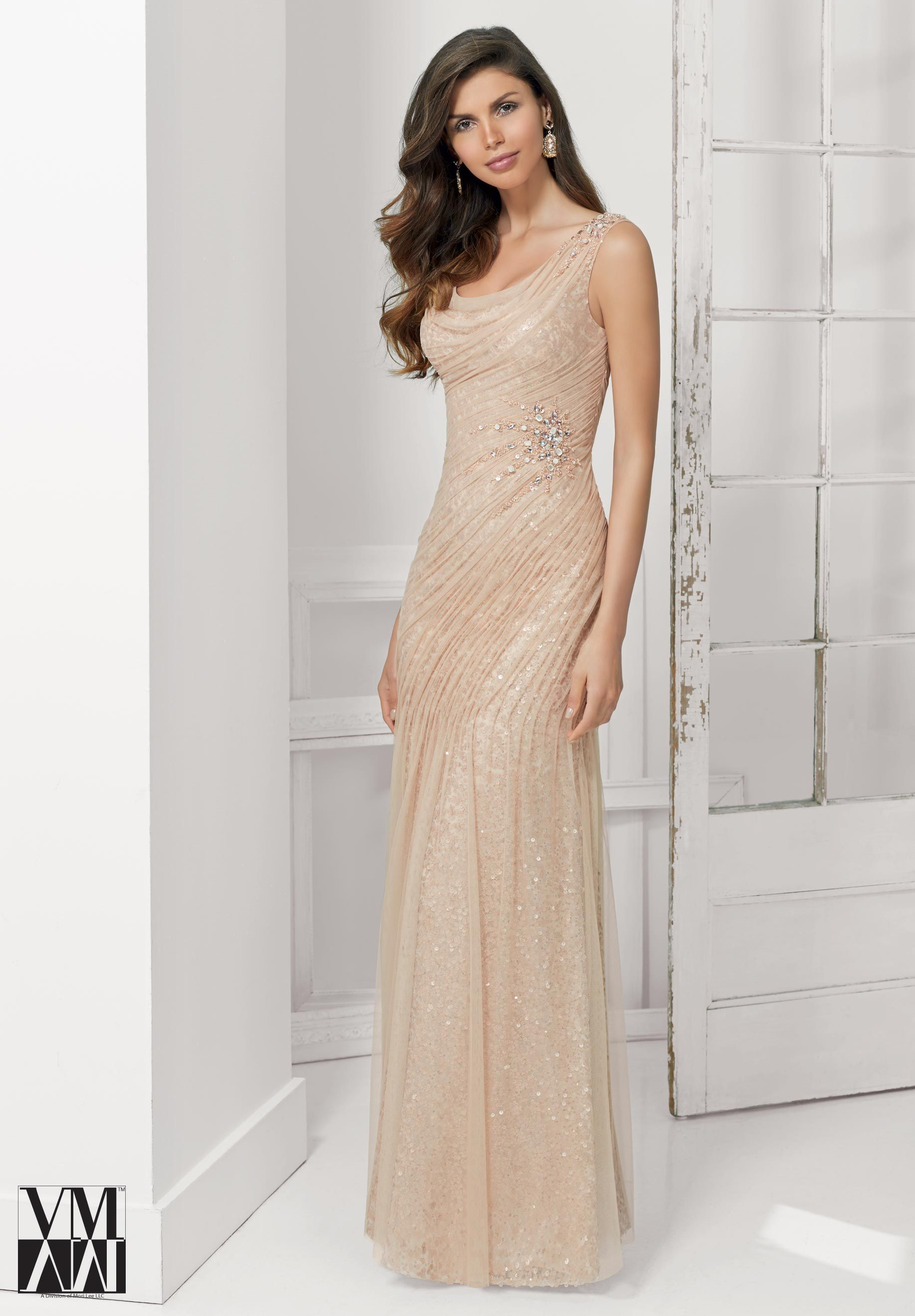 71118 evening gowns dresses net with beaded appliques for Simple cream wedding dresses