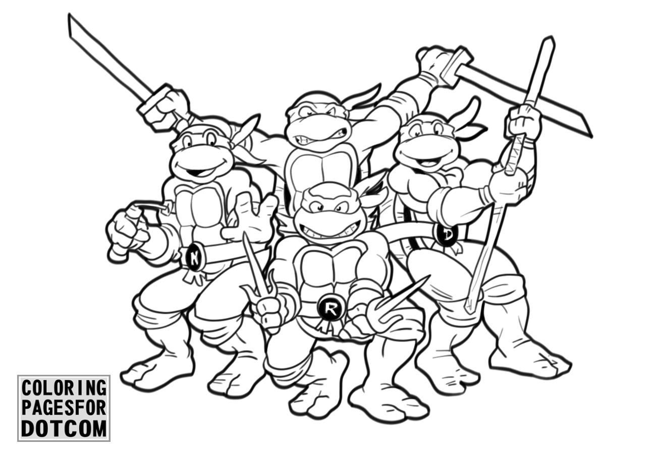 Ninja Turtles Coloring Pages 1 Printable Coloring Book