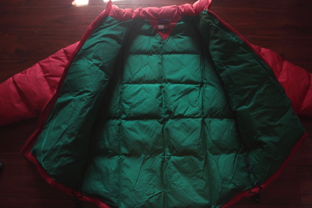 09a5d952fb58 Tommy Hilfiger Red Puffer Jacket with Green Interior NEW  fashion  clothing   shoes  accessories  mensclothing  coatsjackets (ebay link)