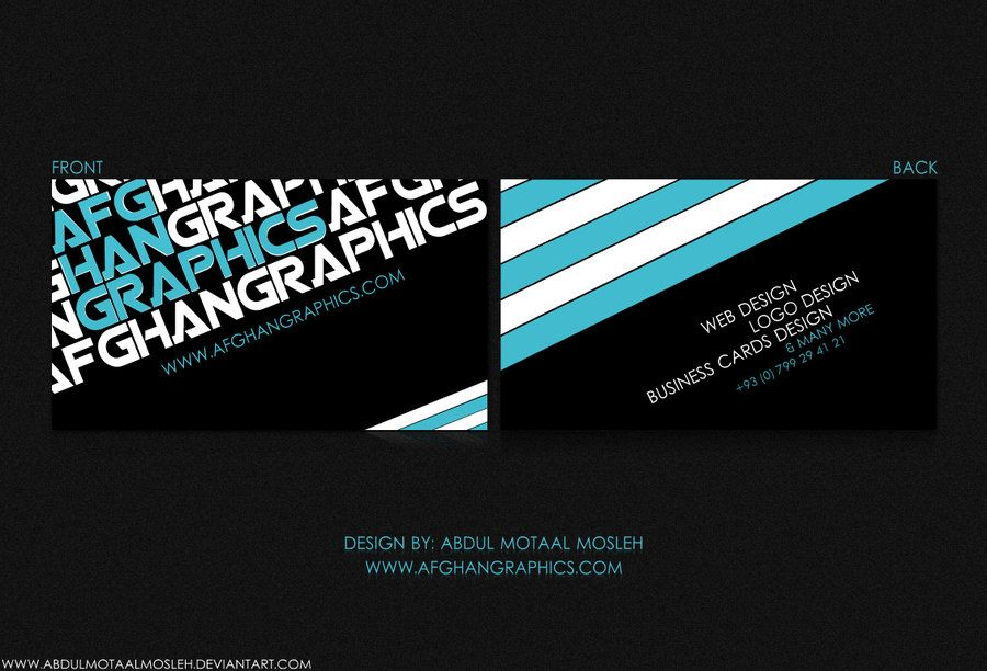 Afghan Graphics Business Card By Abdulmotaalmosleh On Deviantart Http Www Tech Graphic Design Business Card Google Business Card Examples Of Business Cards