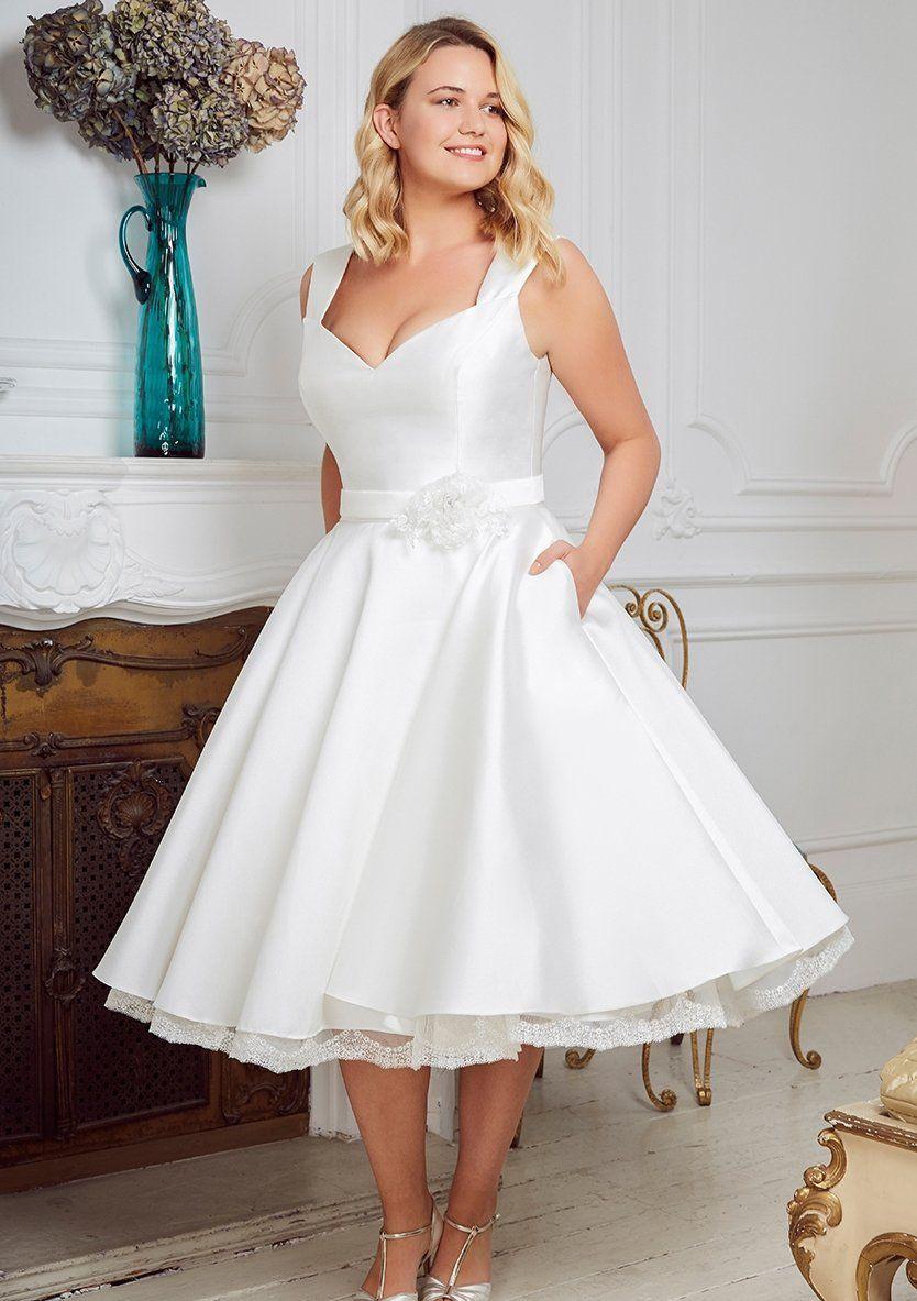 Bright 1950s Vintage Tea Length Wedding Dresses 2018 Pleated Chiffon Informal Reception Bridal Gowns New Vestidos De Novia Custom Made Lustrous Weddings & Events