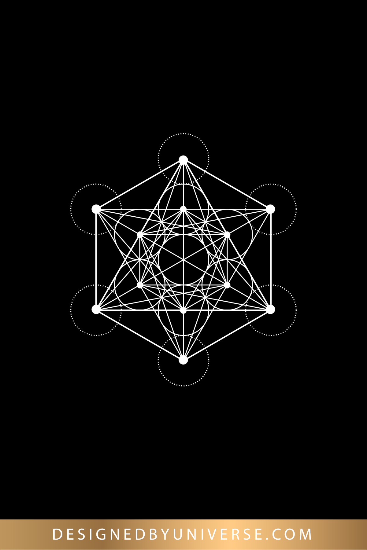 A Minimalist Metatron S Cube Poster In Black And White