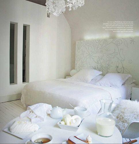 witte slaapkamer interieur ideeen bedroom pinterest