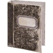 Black//White 5 x 7 x 1 Inches TH93589 2-Ring Tim Holtz Tattered Worn Binder Idea-Ology