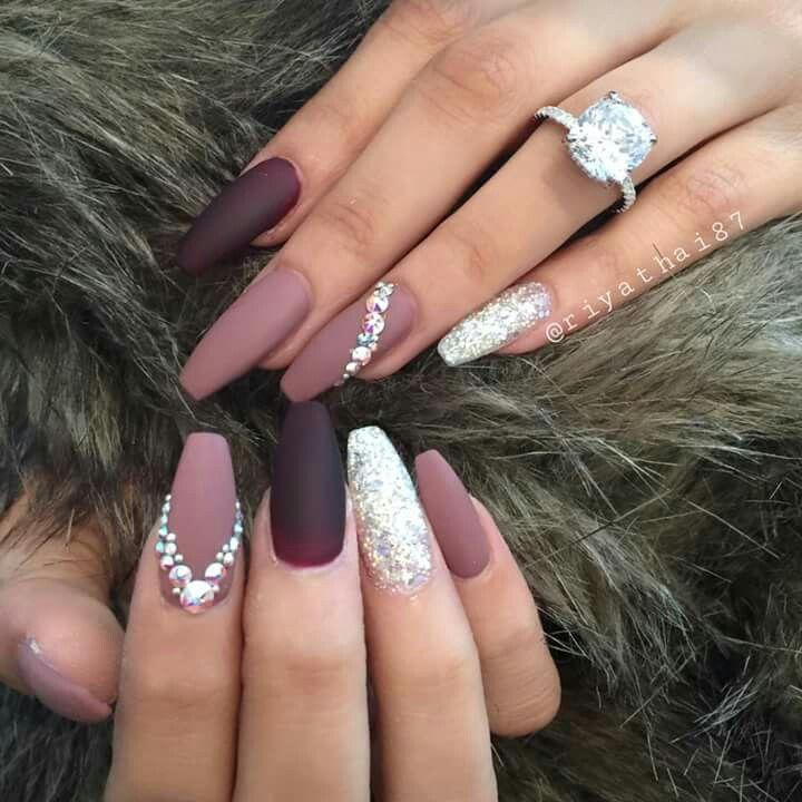 Pinterest Hayleighcotillo Snapchat Hayleighhc Diamond Nails Best Acrylic Nails Pretty Acrylic Nails