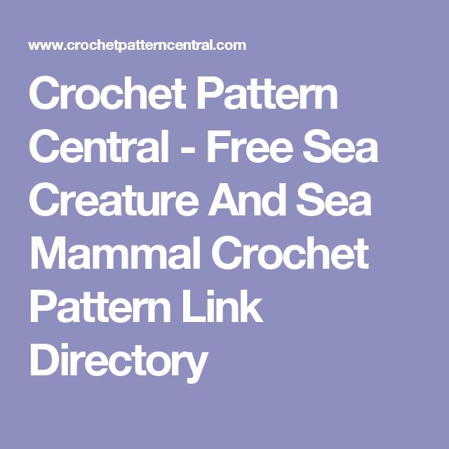 Crochet Pattern Central - Free Sea Creature And Sea Mammal Crochet ...