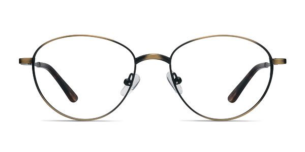 6081ee282a2d Look smart and stylish in these spring-hinge Nara eyeglasses. The oval  lenses add a sophisticated twist to this slender, bronze metal frame. @ EyeBuyDirect