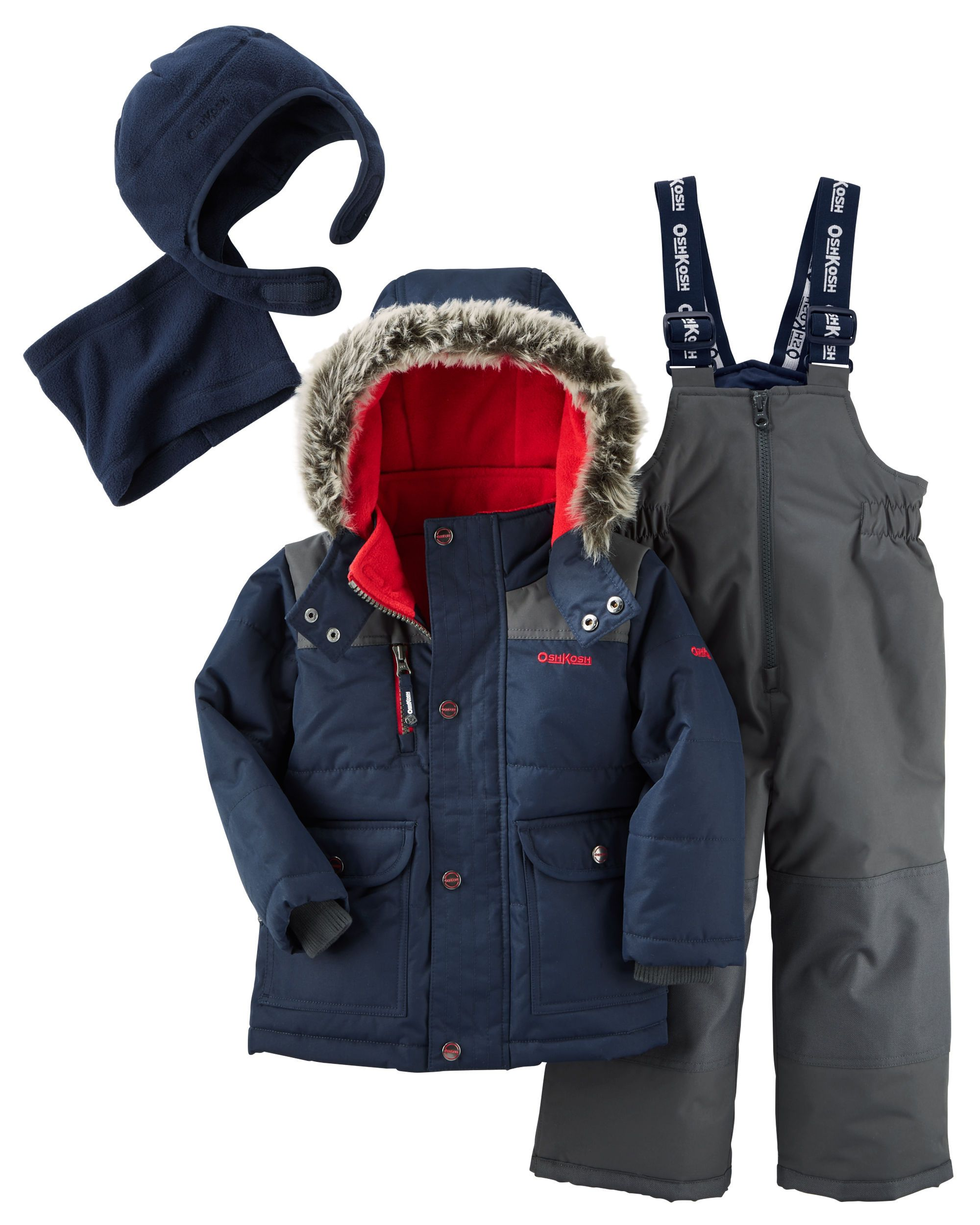 0b9fd3d9d 2-Piece Snowsuit with Microfleece Hat   Neck Warmer