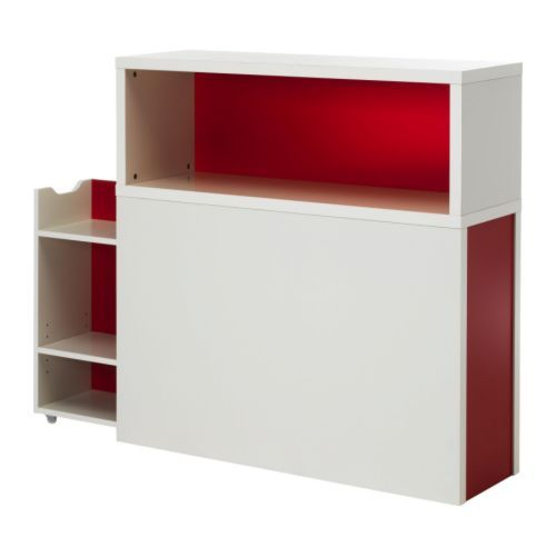 Odda Headboard With Storage Compartment Ikea Open Shelves And A Hidden Pull Out