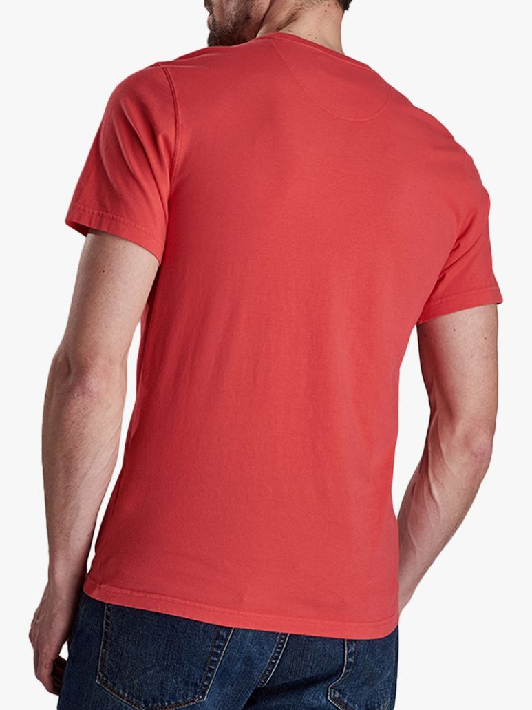 red barbour t shirt