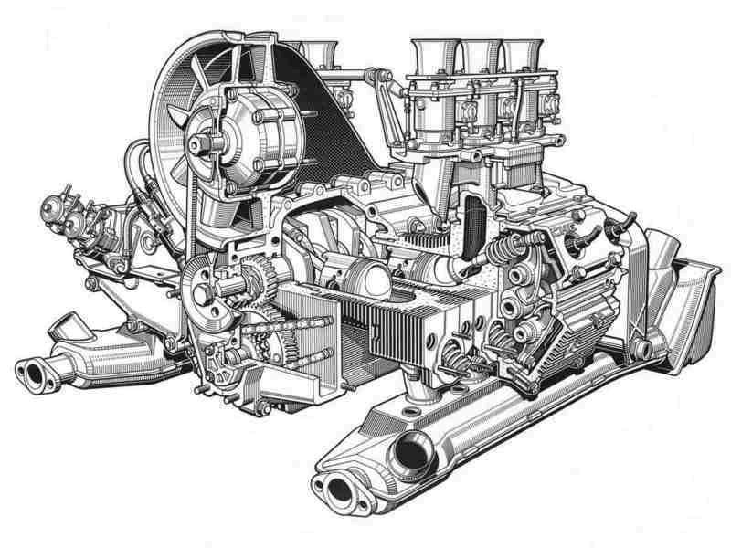 Engine Technical Drawing | Engine drawings - Pelican Parts ...