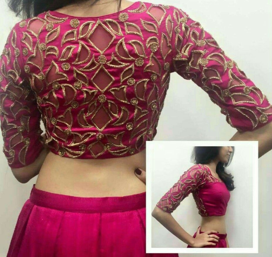 0fadcac60ecb0b Cut work blouse