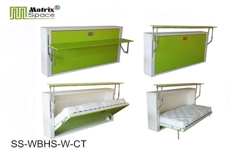 china green space saving horizontal wall bed single with computer table supplier