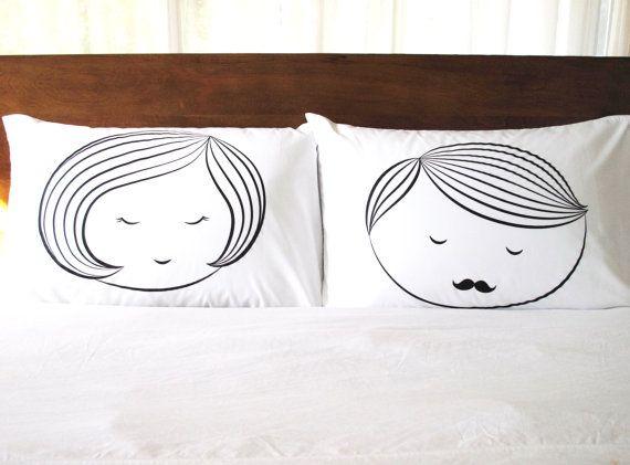 Sleeping Beauty Couples Pillowcase Set Screenprint by joom on Etsy
