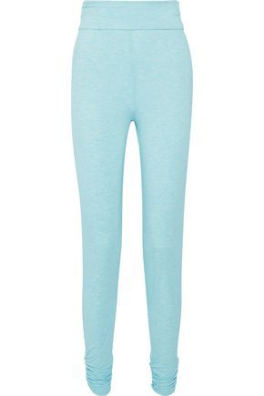 HEIDI KLUM INTIMATES WOMAN COZY MORNINGS RUCHED STRETCH-JERSEY PAJAMA PANTS  TURQUOISE.  heidiklumintimates  cloth   38bb2633a