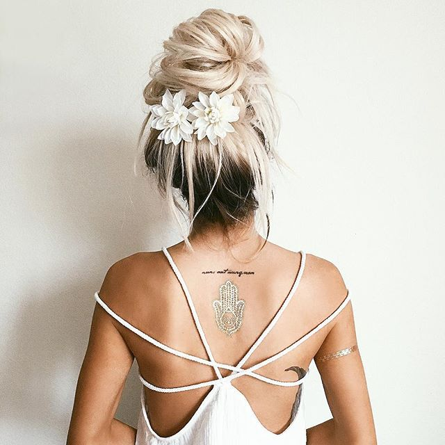 Bridal Hairstyle With Rose : Emily rose hannon hair bun ➳♡ natural life ♡➳ pinterest
