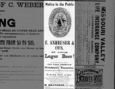 April 1877 With Images Beer Ad
