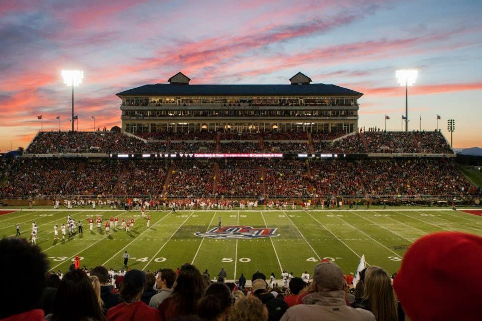 Liberty University Football hosts University of Richmond at Williams Stadium during Homecoming weekend on October 4, 2014.
