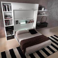 letto-a-scomparsa-verticale-matrimoniale-basso-mod-sofia-con-tavolo ...