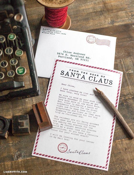 Printable Letter From Santa  Printable Letters Envelopes And Santa