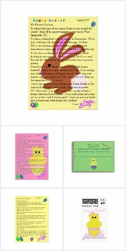 One-of-a-kind Personalized Letters from the Easter Bunny  Gifts