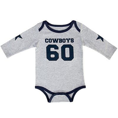 Dallas Cowboys Newborn Infant Walden Creeper - Gray  54ebf2a5e