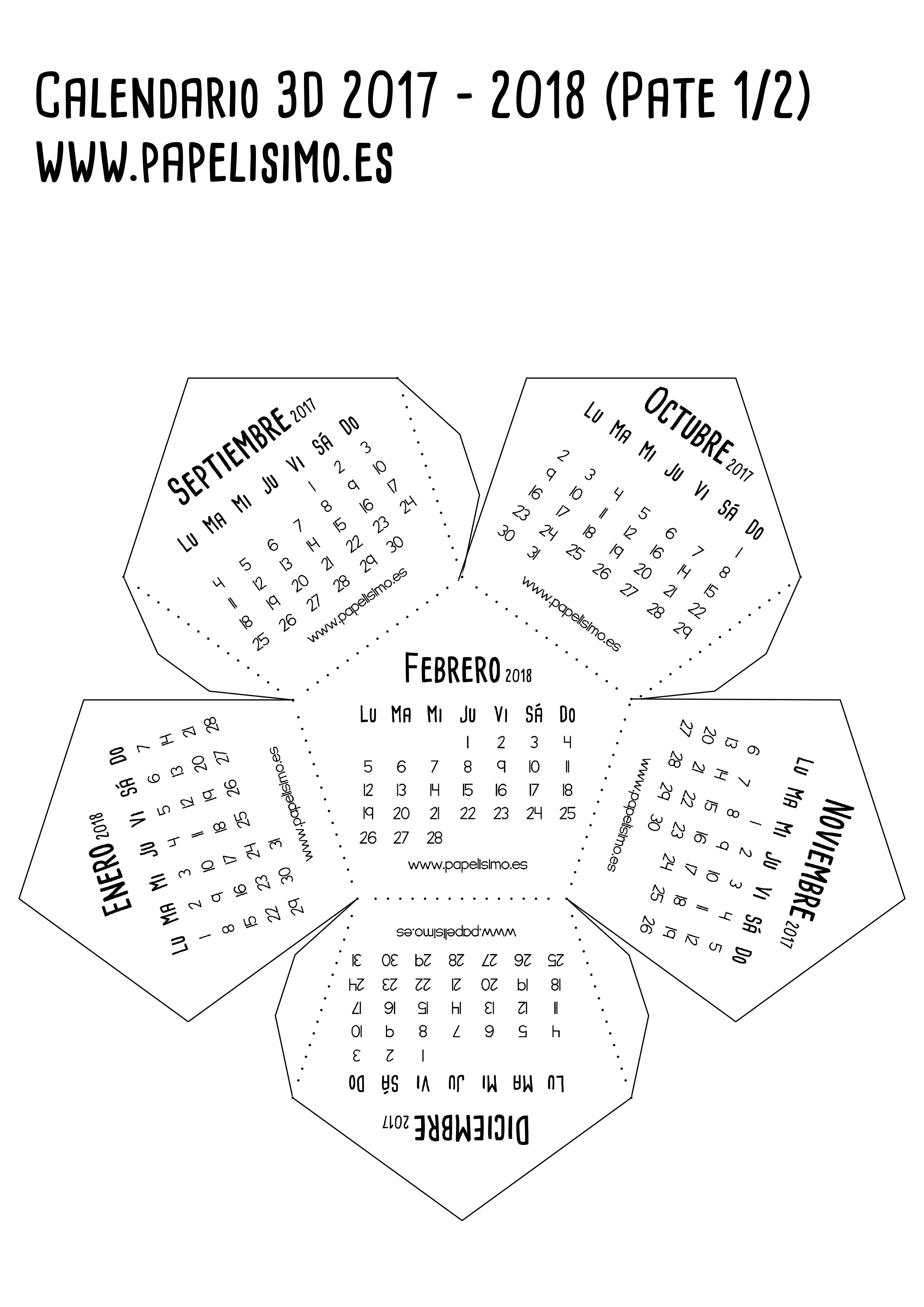Calendario-escolar-3D-2017-2018-para-imprimir-Dodecaedro ...