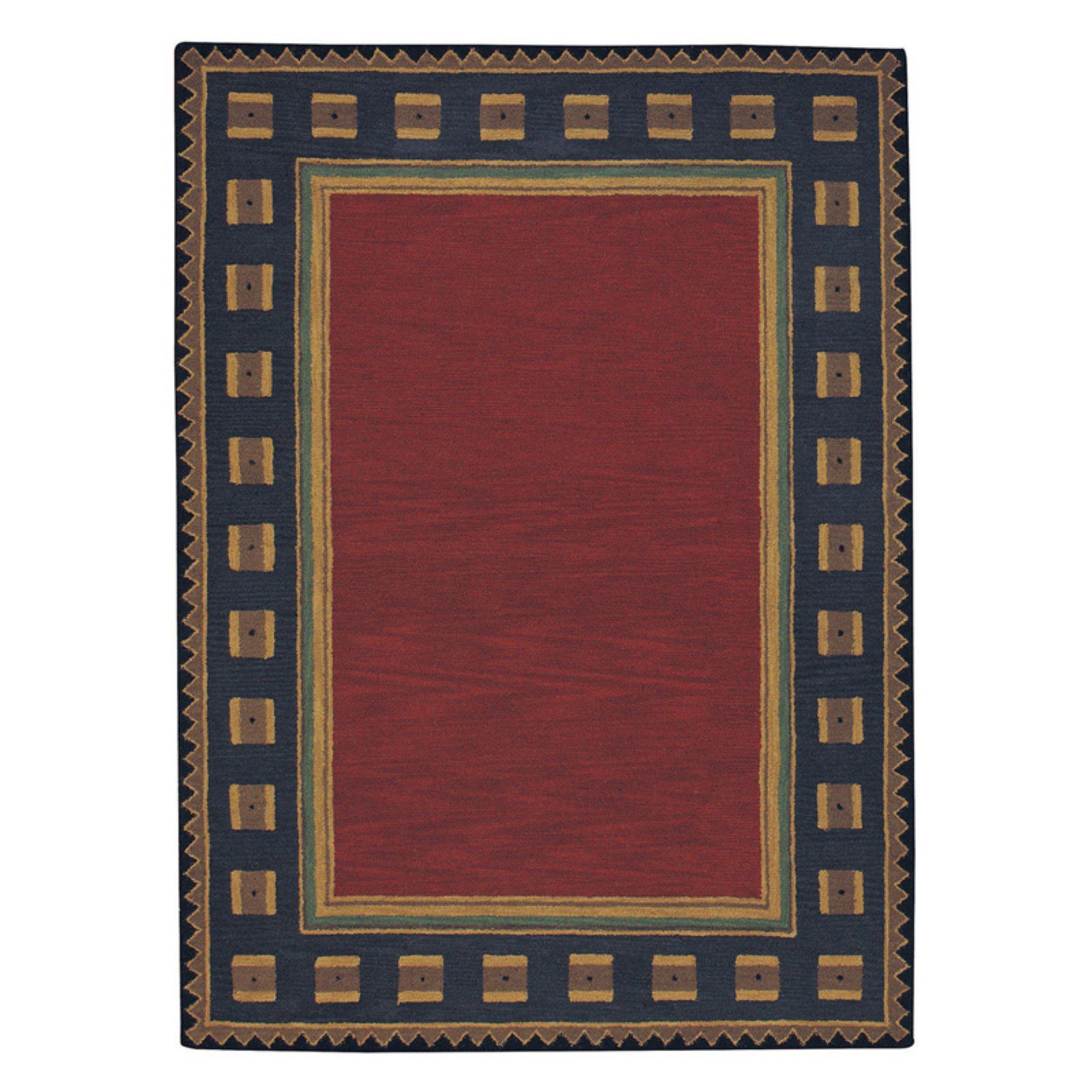 Castle Rock 9233 Hand Tufted Rectangle Area Rug Poppy In