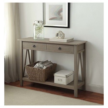 Titian Console Table Driftwood Linon Gray Console Table Linon