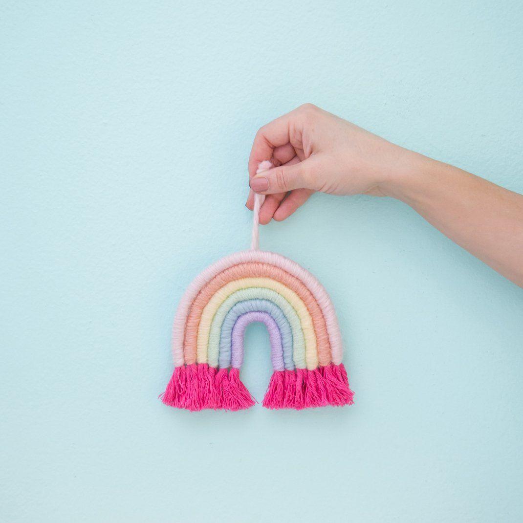 Mini Pastel Rainbow Fiber Arch by Mandi Smethells / Exclusively for Oh Joy!