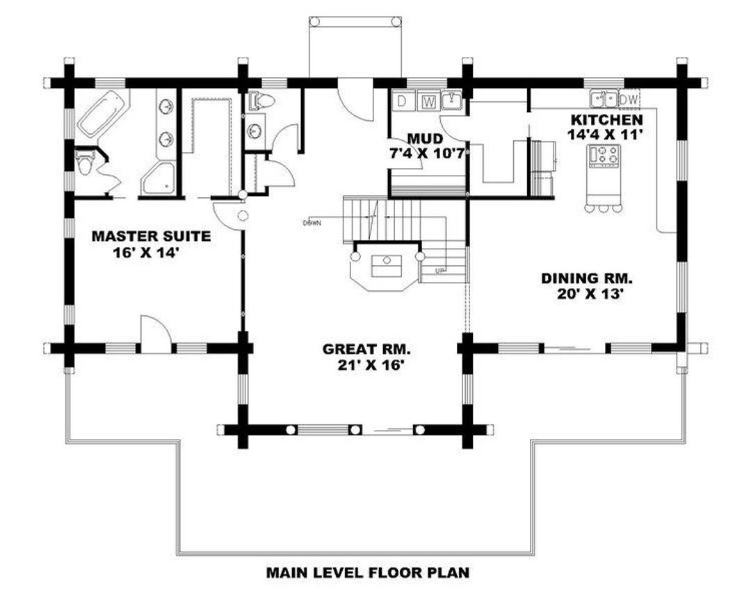 Home Plan 001 1053 2513 Heated Square Feet 2 25 Bathroom 3 Bedroom 2 Car Garage Homeplanmarketplace Arch House Plans House Floor Plans Cabin Plans