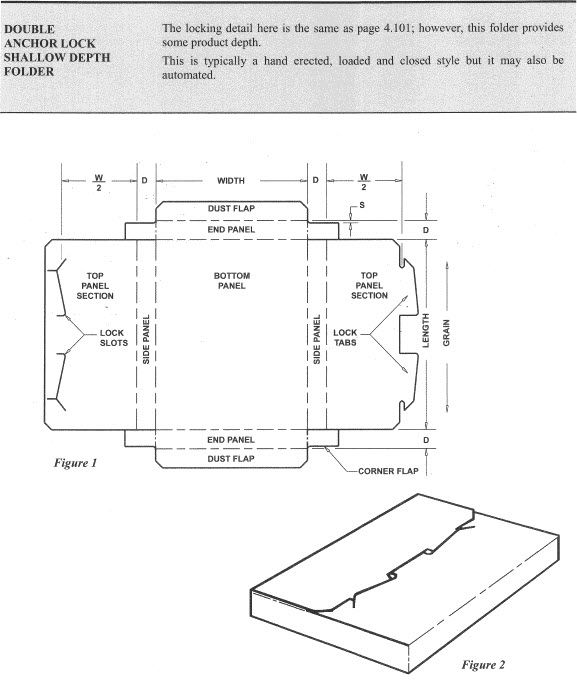 Double Anchor Lock Shallow Depth Folder templates Pinterest - double lined paper