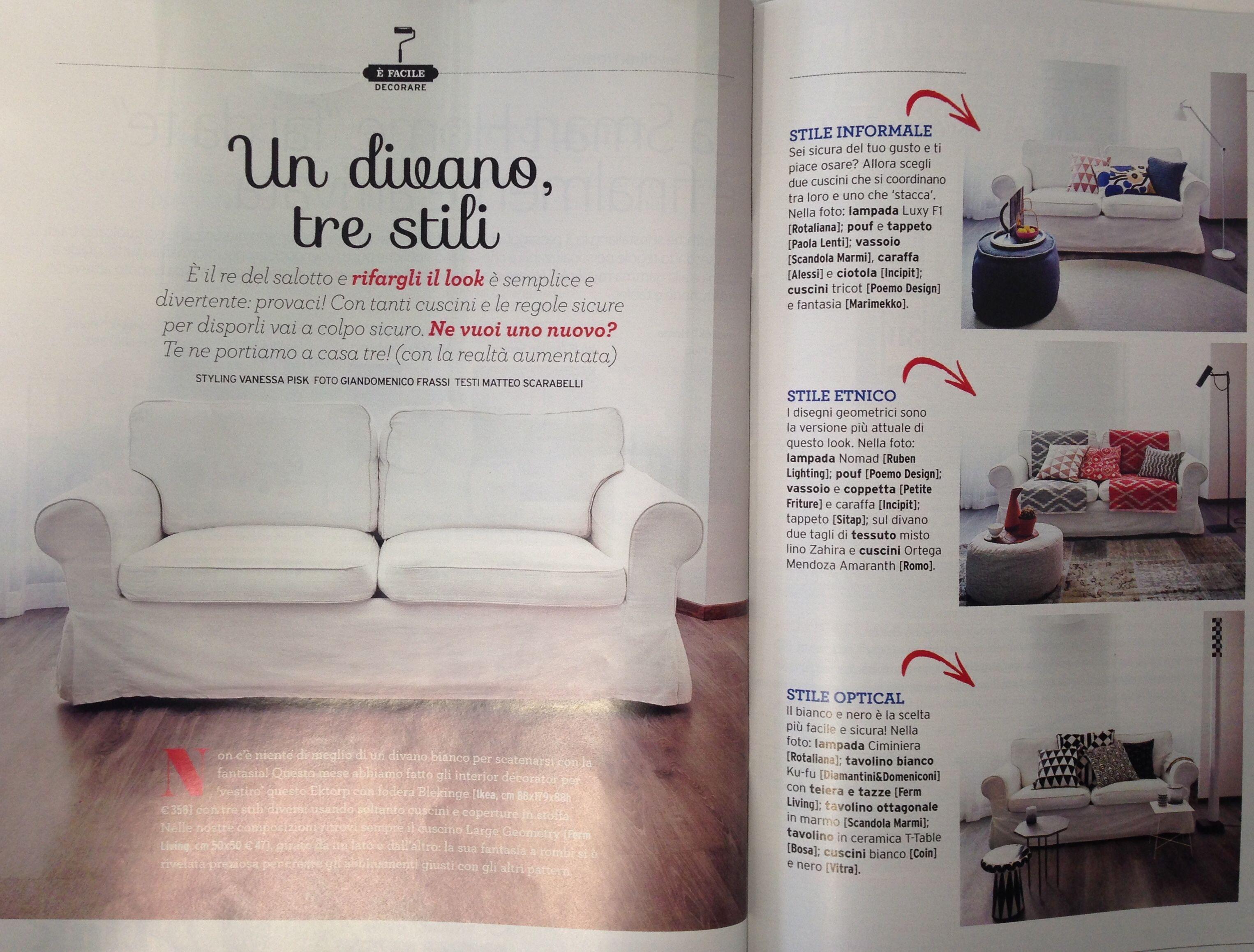 Uno Studio In Nero _salotto di alessia pera   pouf, divano, lampade