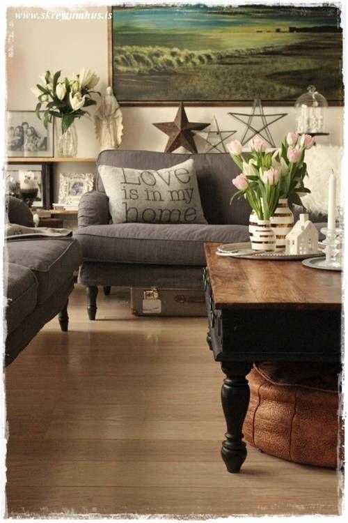 Ikea stocksund sofa vintage living room af blogginu my blog pinterest zithoek en interieur - Ikea lounge mobel ...