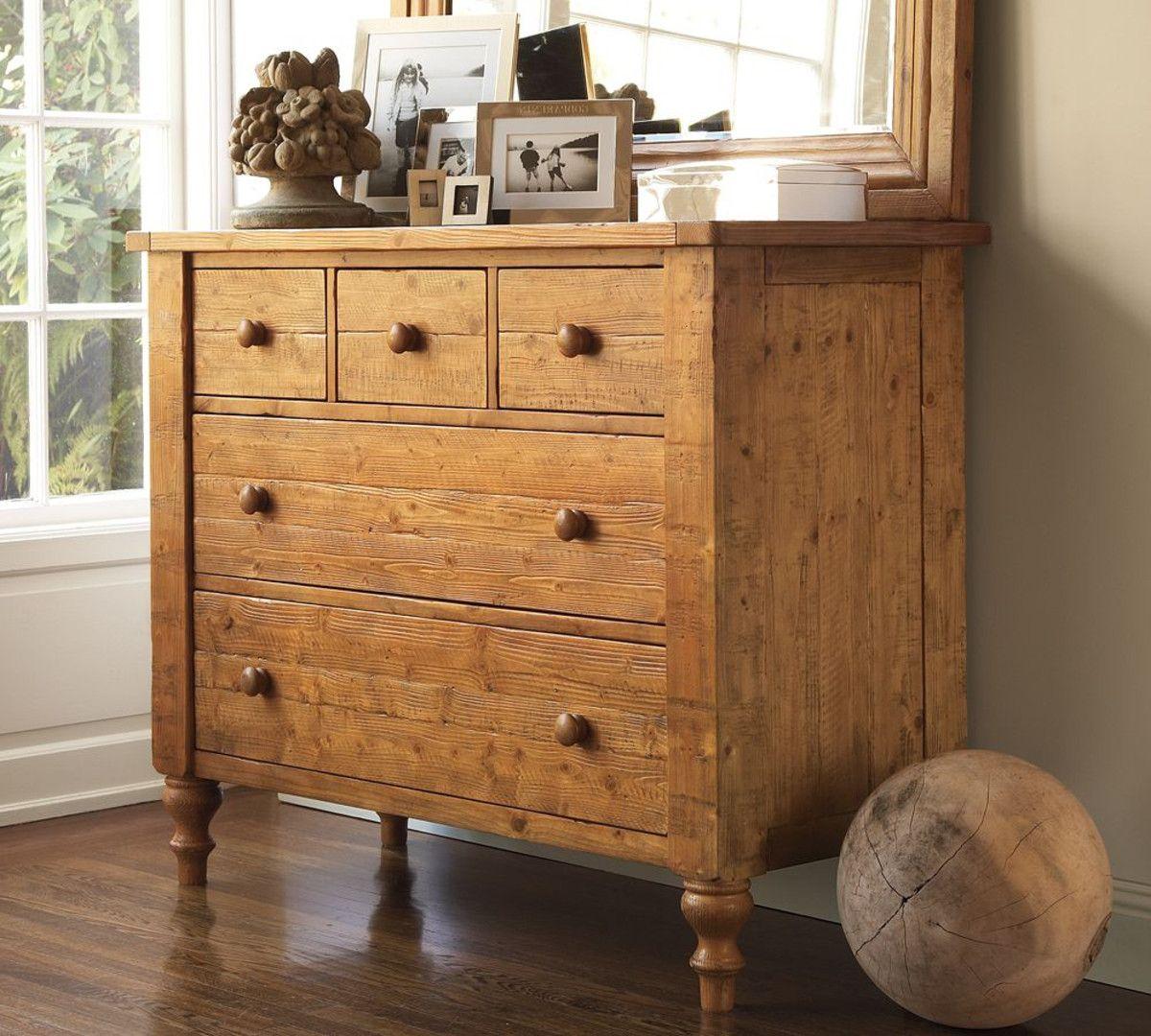 Pottery Barn Ashby Dresser wax pine Pottery Barn Furniture