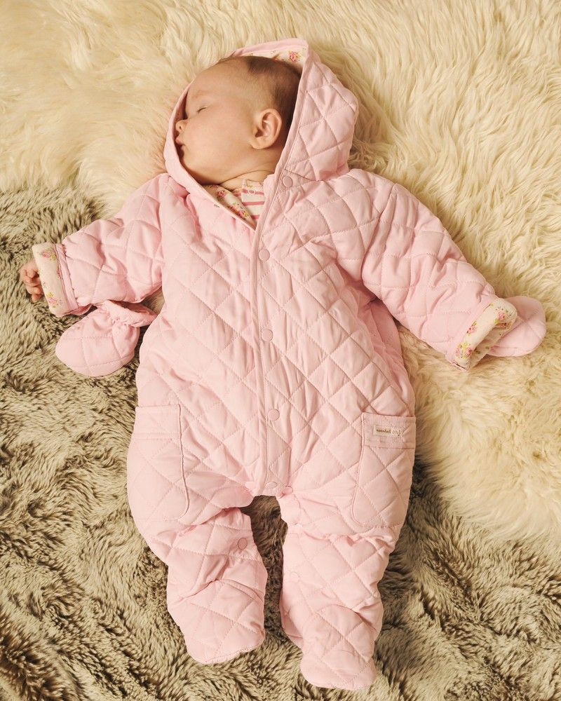 01d0e9232 Quilt Baby Girl Snowsuit - Baby Pram Suits / Snowsuits - View by Product -  Newborn Essentials