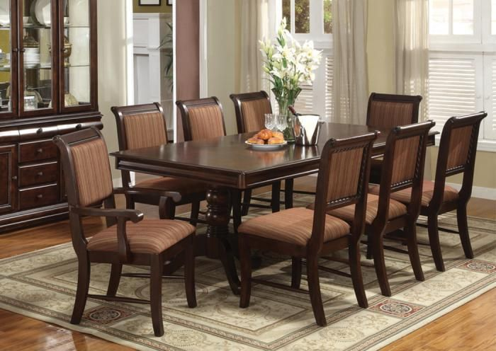 Home Furniture Plus Bedding Broadway 7 Pc Dining Room Formal Dining Room Furniture Sets Dining Room Furniture Sets Formal Dining Room Sets