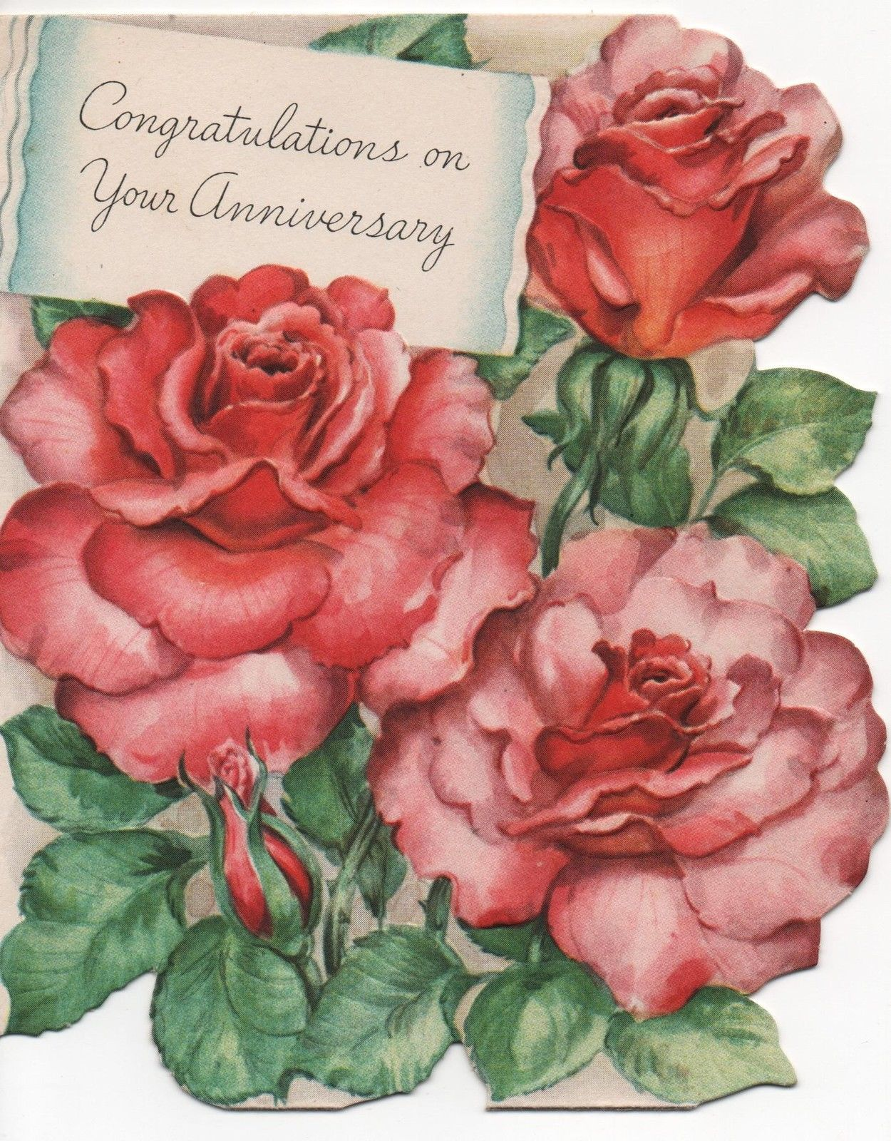 Vintage greeting card anniversary 1947 congratulations on your vintage greeting card anniversary 1947 congratulations on your anniversary ebay kristyandbryce Images