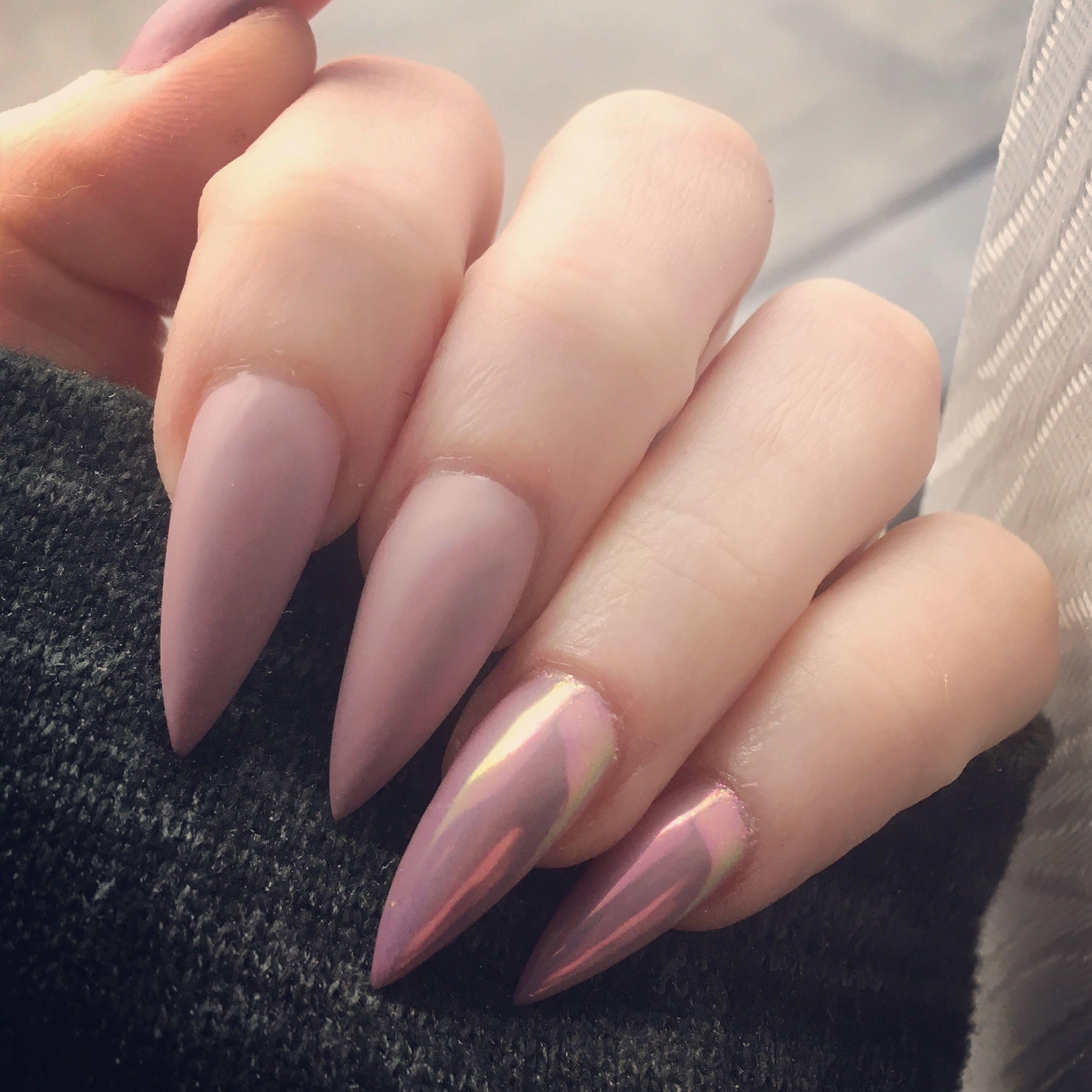 #nudenails #chromenails #naildesigns #nailinspiration ...