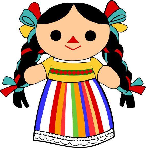 d3a005465 Mexican Maria Rag Doll SVG File | Products | Muñecas de trapo ...