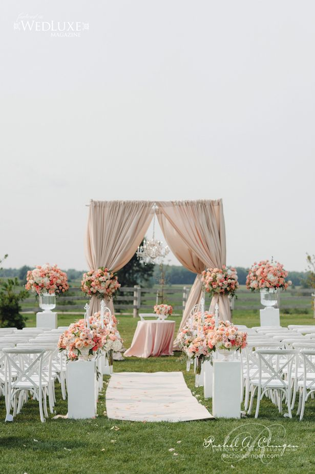 12 gorgeous wedding ceremony decor ideas studio for Outdoor wedding decorating ideas