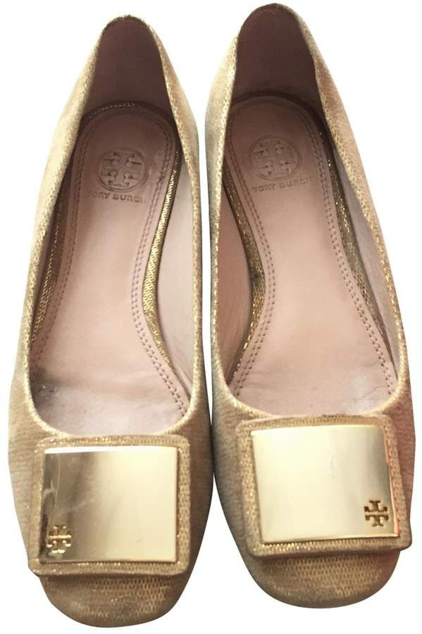 7b219453fb0d Tory Burch Gold Leather Ballet flats