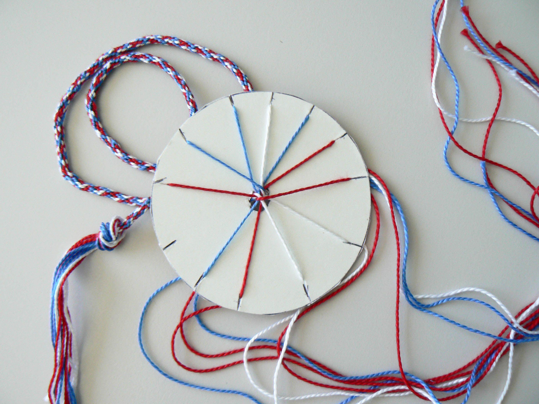 Fabuleux Finition bracelet tissé avec rondelle en carton | bijoux  WF41