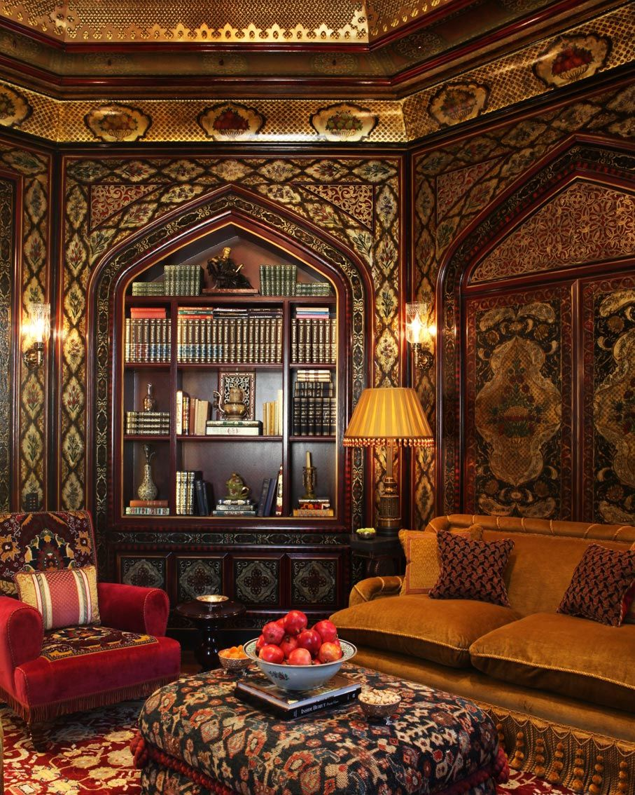 Library by Alidad Design, in the spirit of 18th and 19th century Syrian and  Ottoman