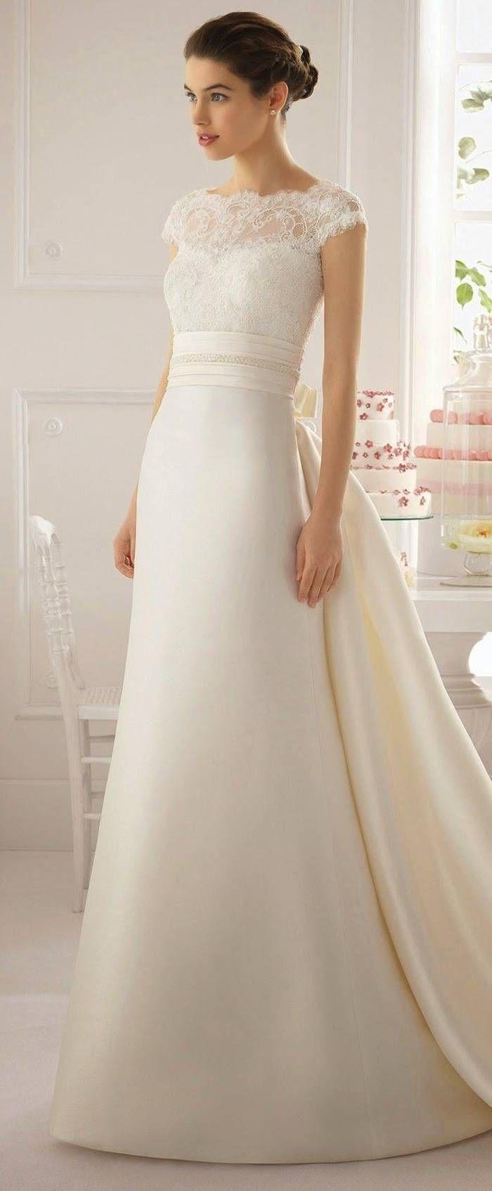 Modest Wedding Dresses With Pretty Details Modwedding Elegant Wedding Dress Wedding Dresses Wedding Dresses Simple [ 1693 x 700 Pixel ]