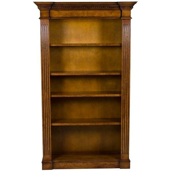 Antique Style Walnut Breakfront Bookcase 2 465 Liked On Polyvore Featuring Home Furniture Storage Breakfront Bookcase Vintage Style Furniture Bookcase