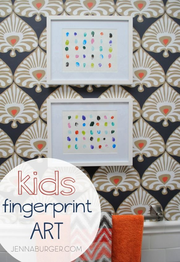 DIY: KIDS fingerpaint art - inspired by the book Mix It Up, fingerpaint wall art can easily be created by kids