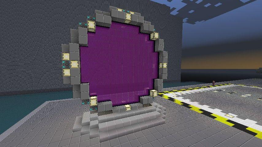 Stargate (nether portal design) Minecraft Project | Minecraft Ideas