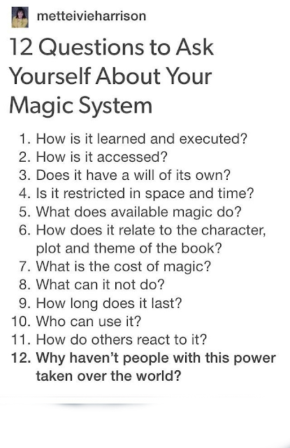 12 Question to Ask yourself about your Magic System