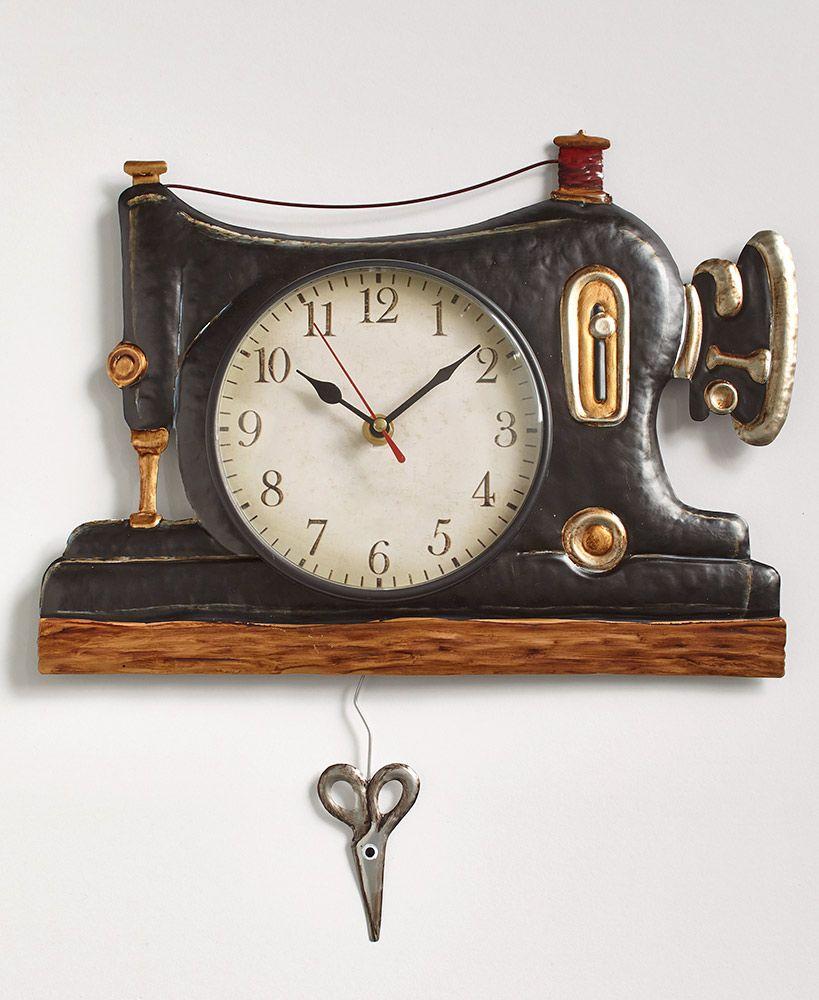 Home Pendulum Wall Clock Vintage Wall Clock Sewing Room Decor